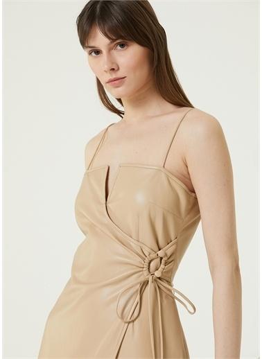 Nanushka Elbise Krem